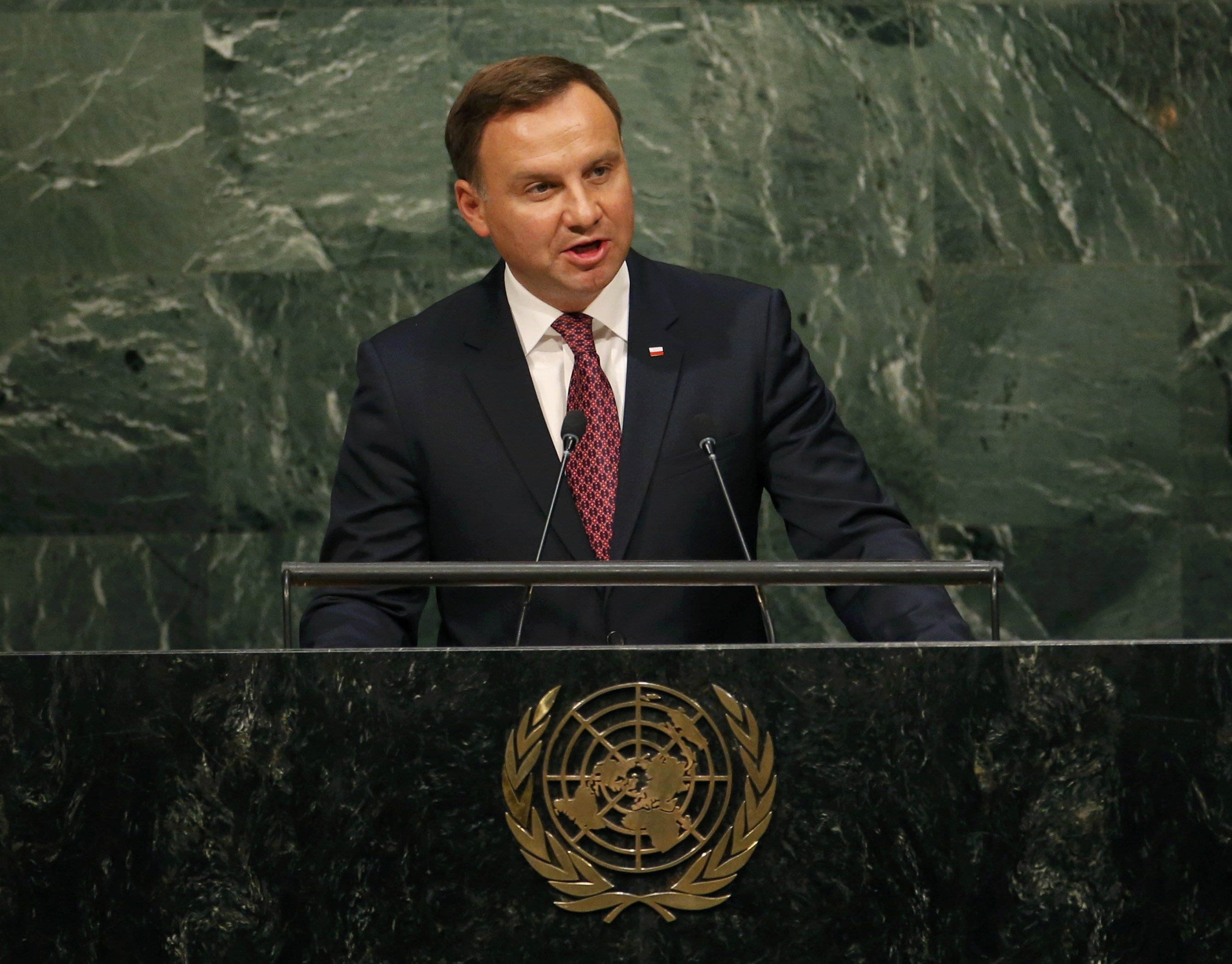 Анджей Дуда на трибуне ООН