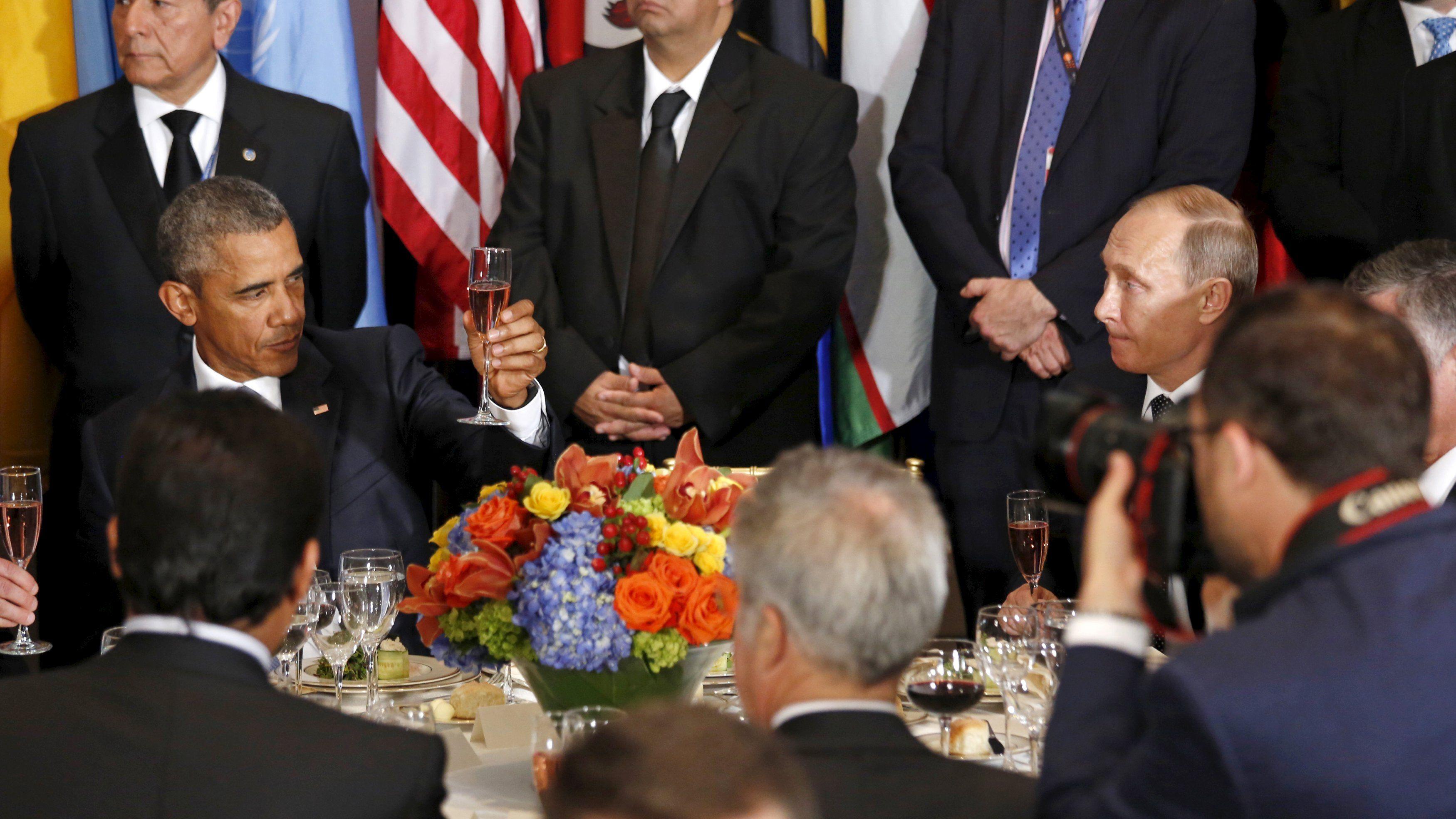 Обама поднял бокал за ООН