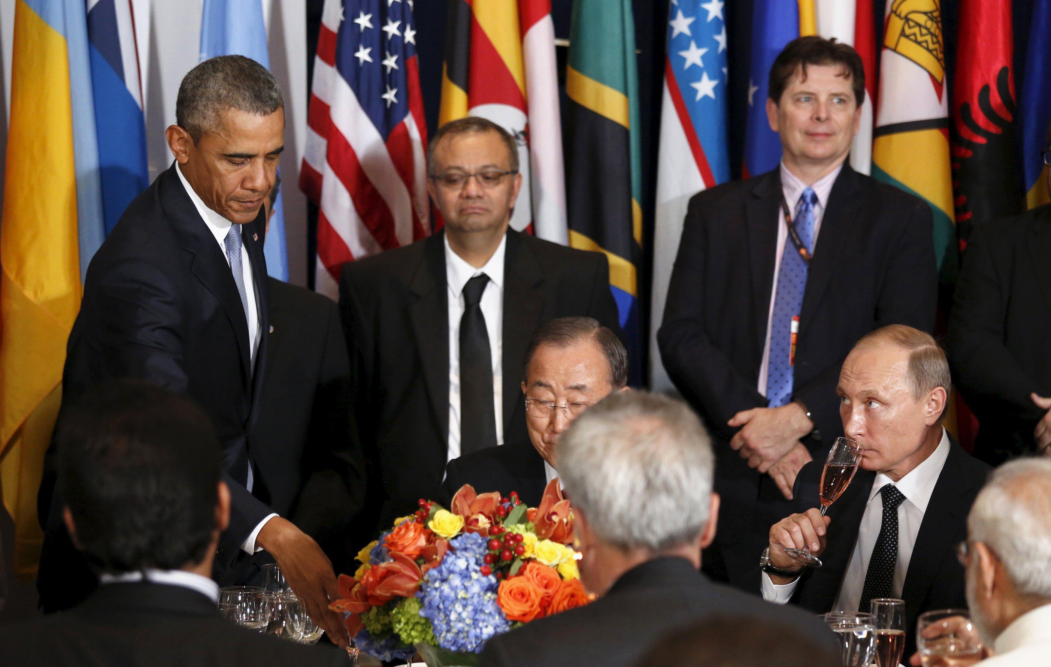 Обама и Путин на ланче в ООН
