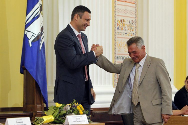 Виталий Кличко и Александр Омельченко