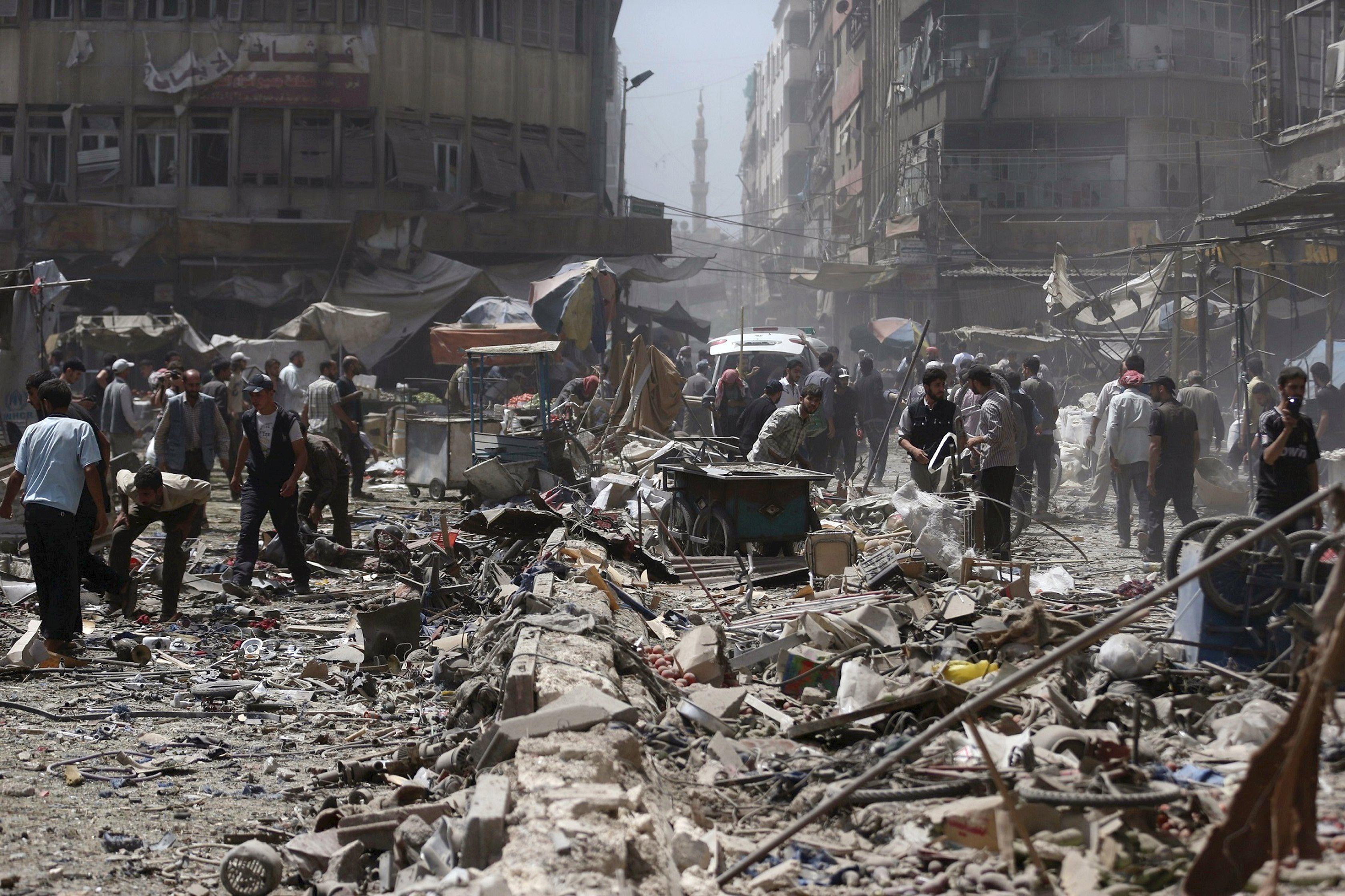 Россия ударила по сирийской оппозиции