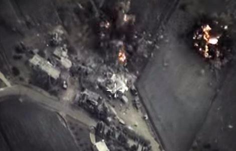 Российская бомбежка в Сирии