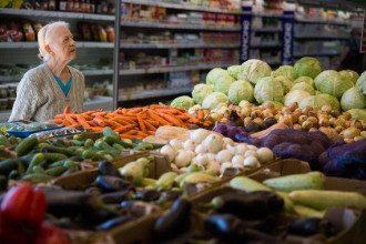 Россия, пенсионеры, продукты