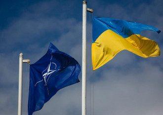 НАТО, Украина, флаги