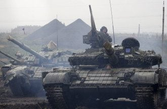 ДНР, танки, Донецк, боевики