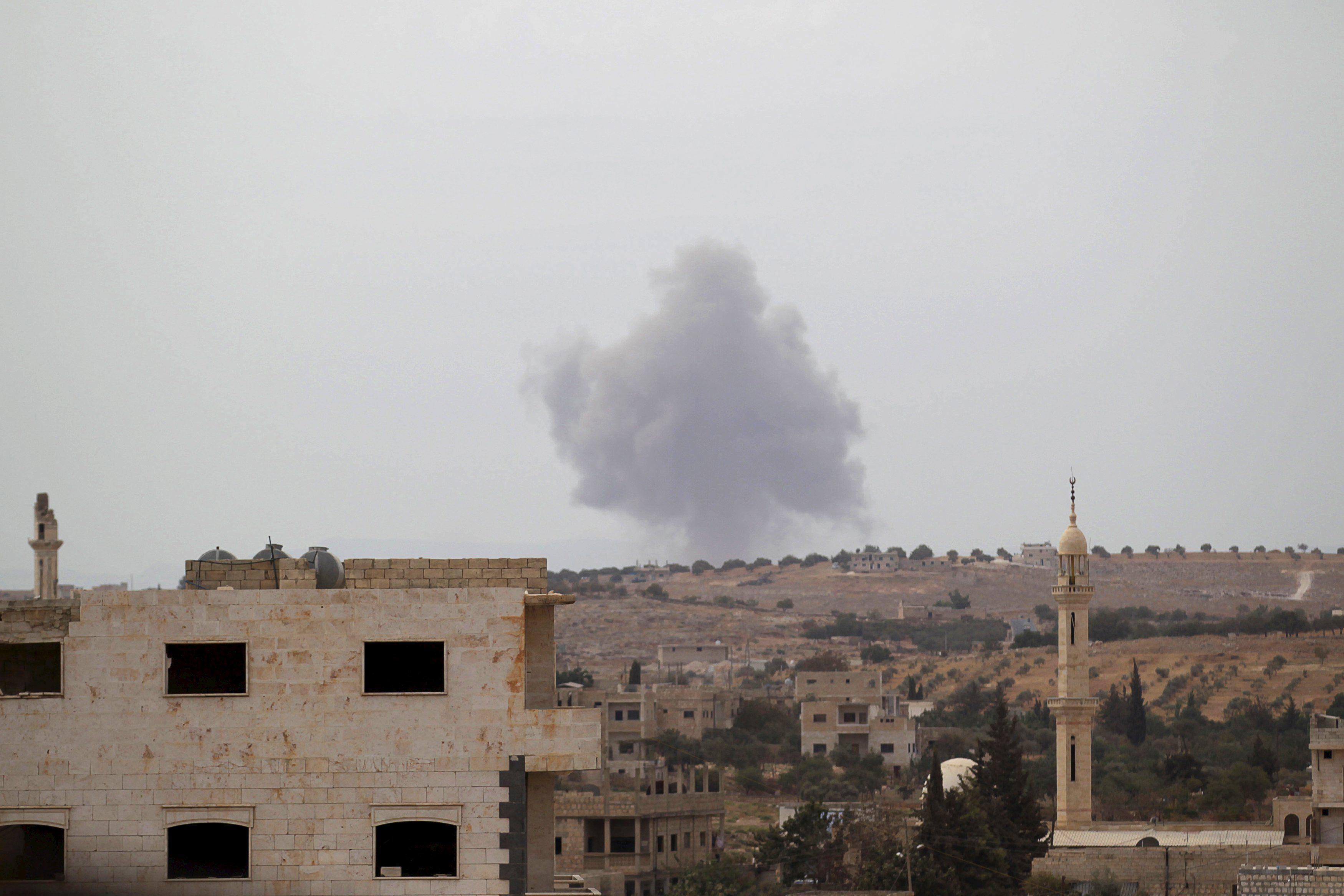 Российская бомбежка Сирии, иллюстрация