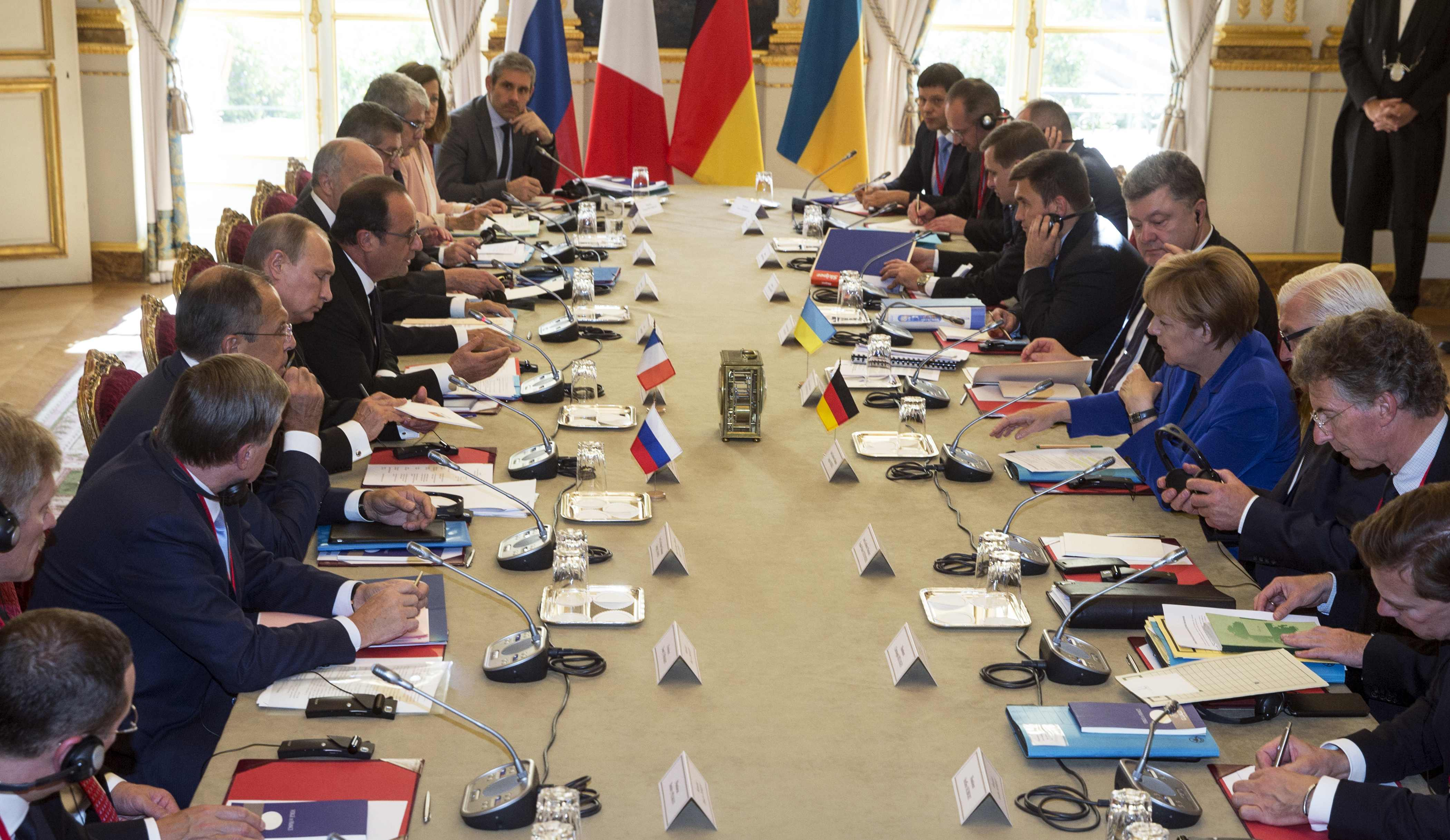 Париж, Порошенко, Меркель, Путин, Олланд, нормандская четверка