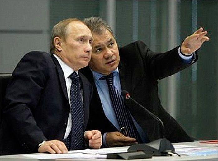 Владмир Путин и Сергей Шойгу