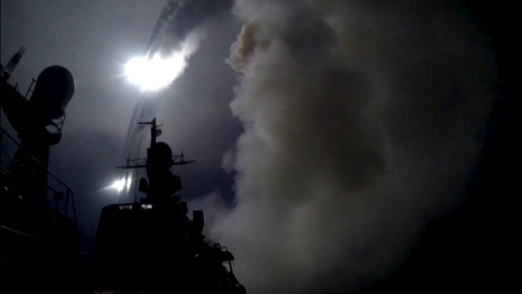 Ракеты выпущенные по Сирии, иллюстрация