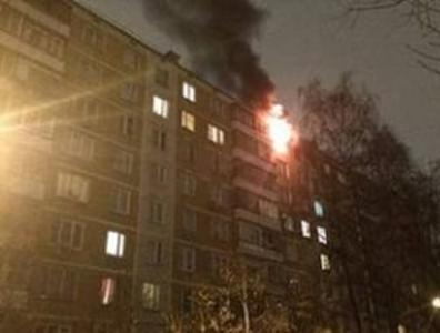 Пожар в донецкой многоэтажке