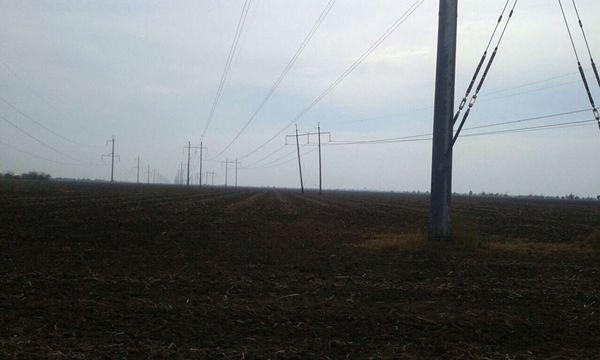 Взорвана опора линии электропередач на границе с Крымом