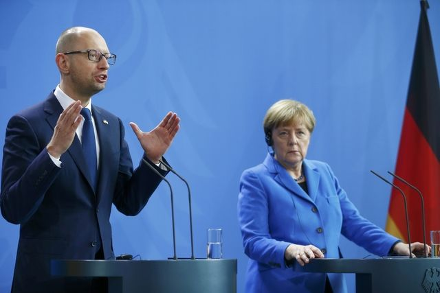 Арсений Яценюк и Ангела Меркель