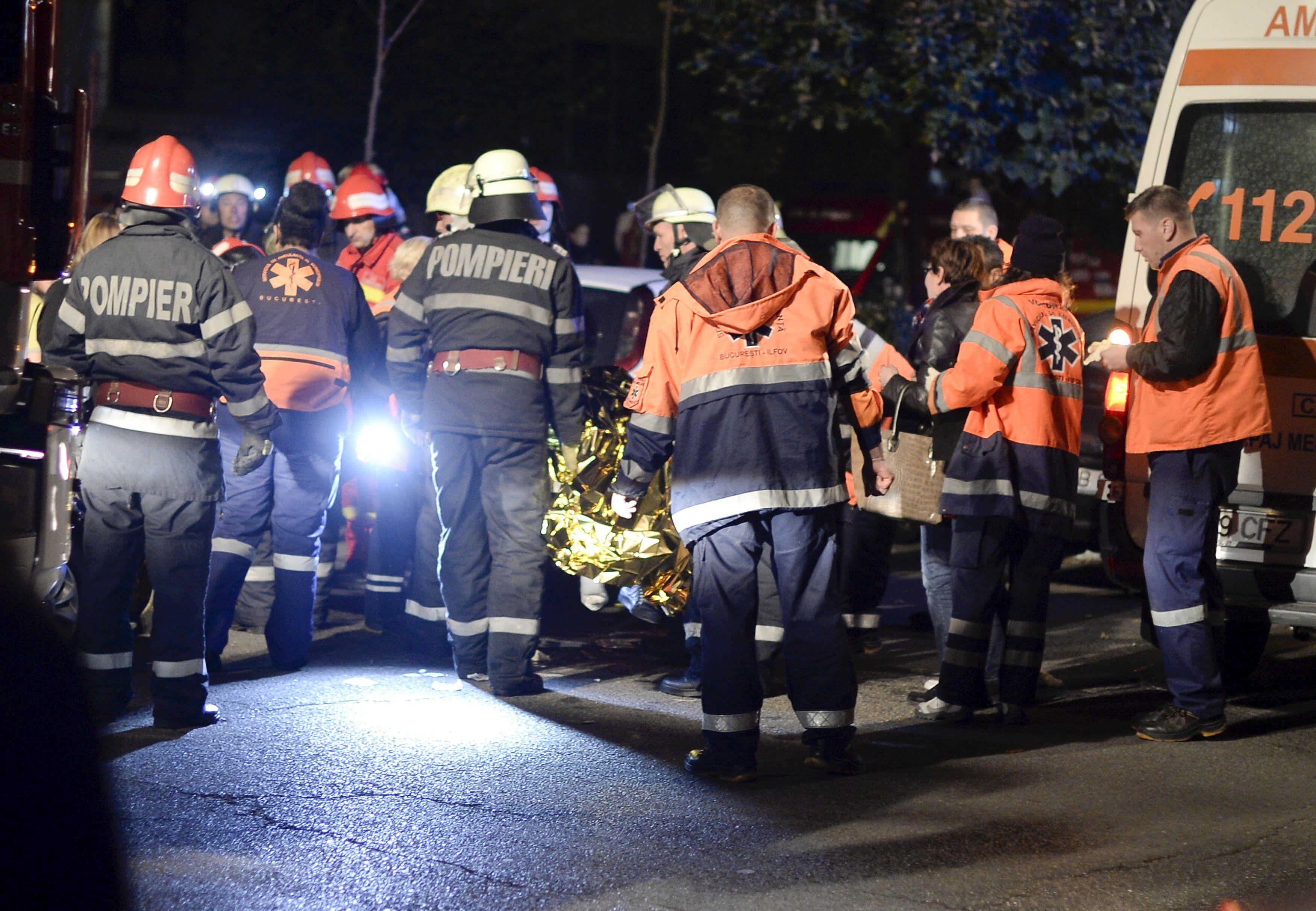 Последствия пожара в ночном клубе Бухареста, иллюстрация