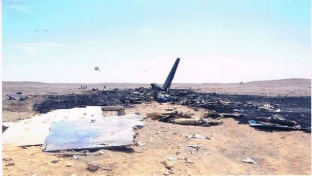 Место крушения самолета РФ в Египте
