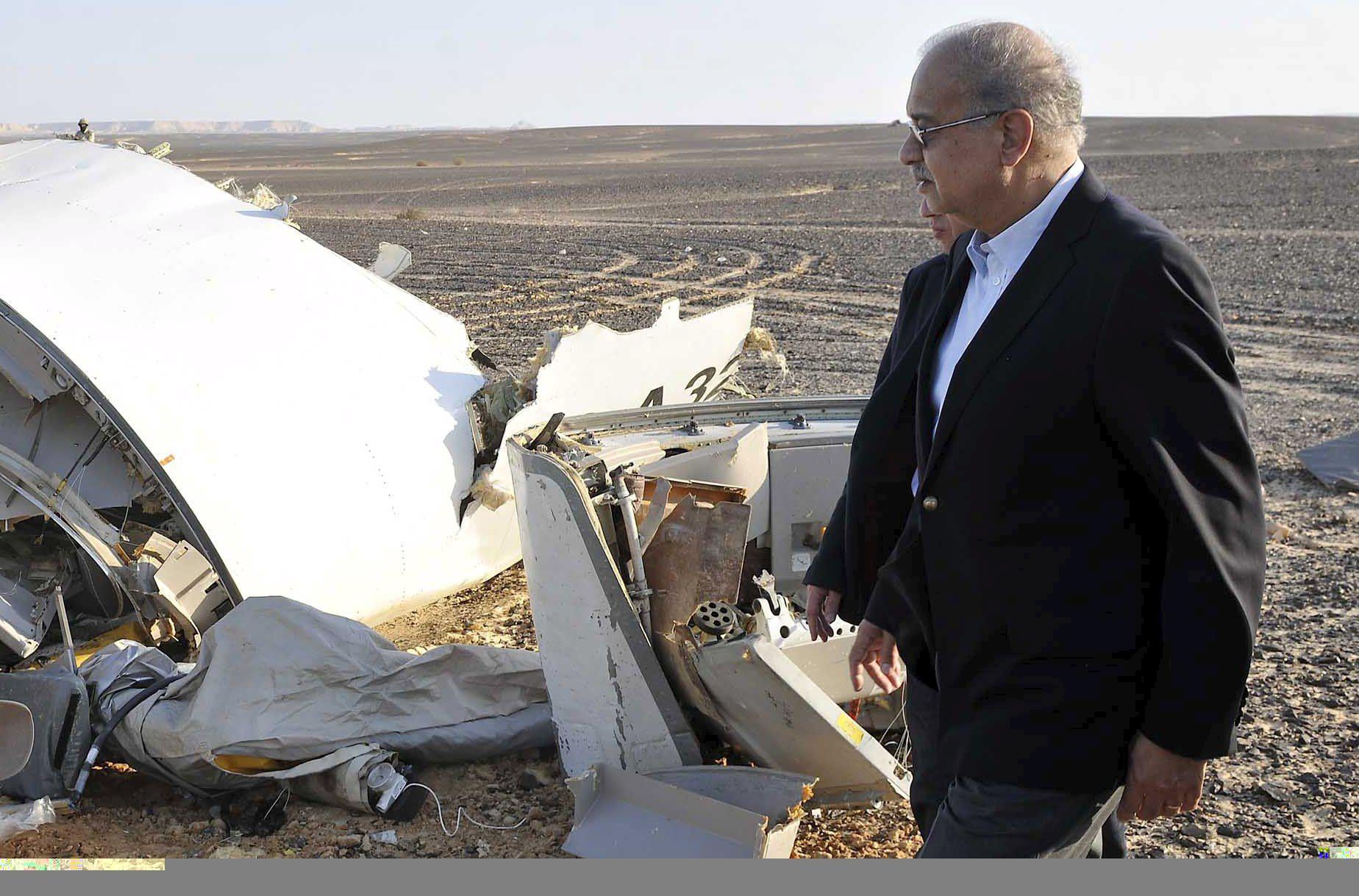 Крушение российского лайнера над Египтом, иллюстрация