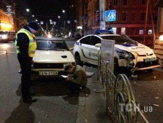 ДТП с автомобилем киевской полиции