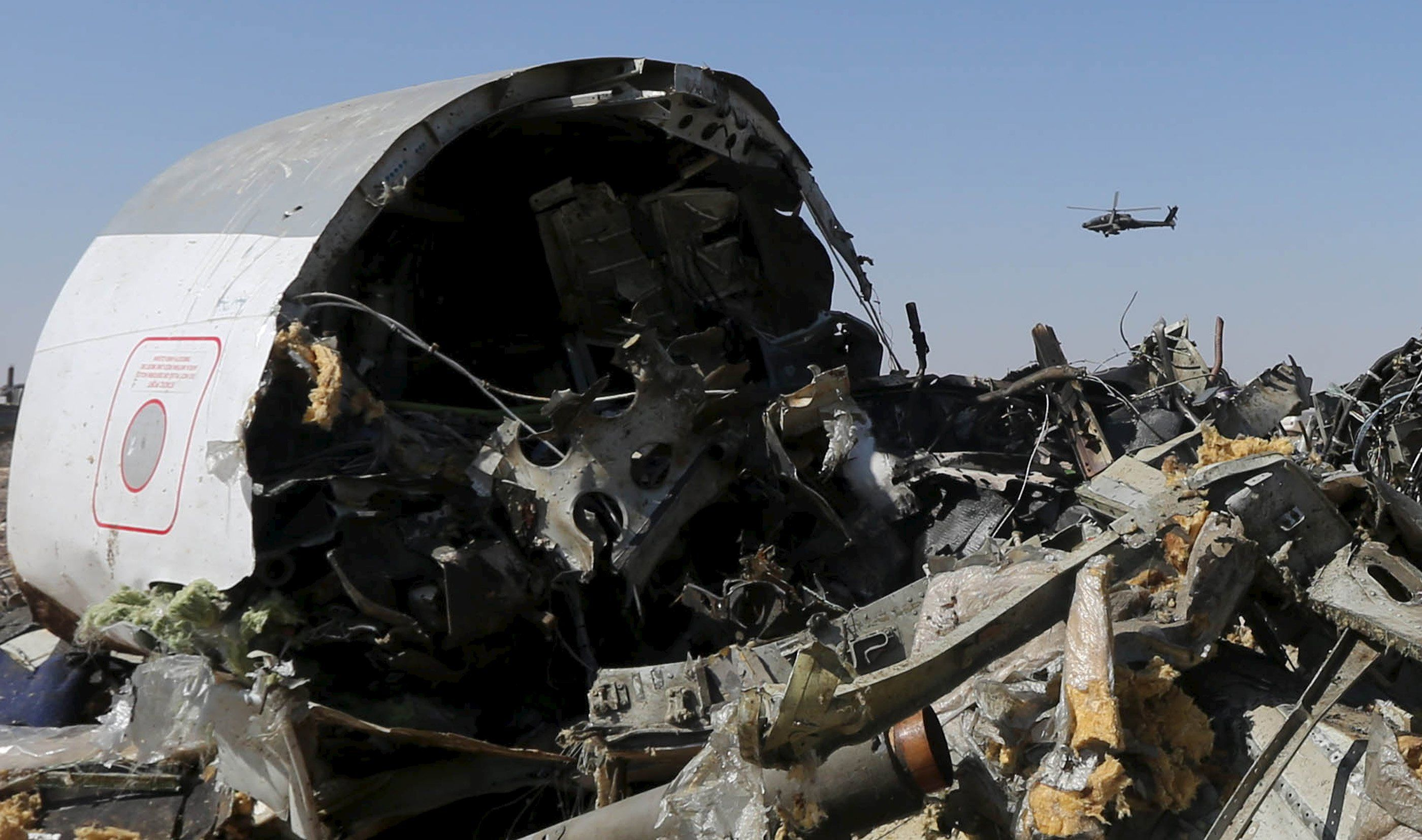 Обломки Airbus A321, иллюстрация