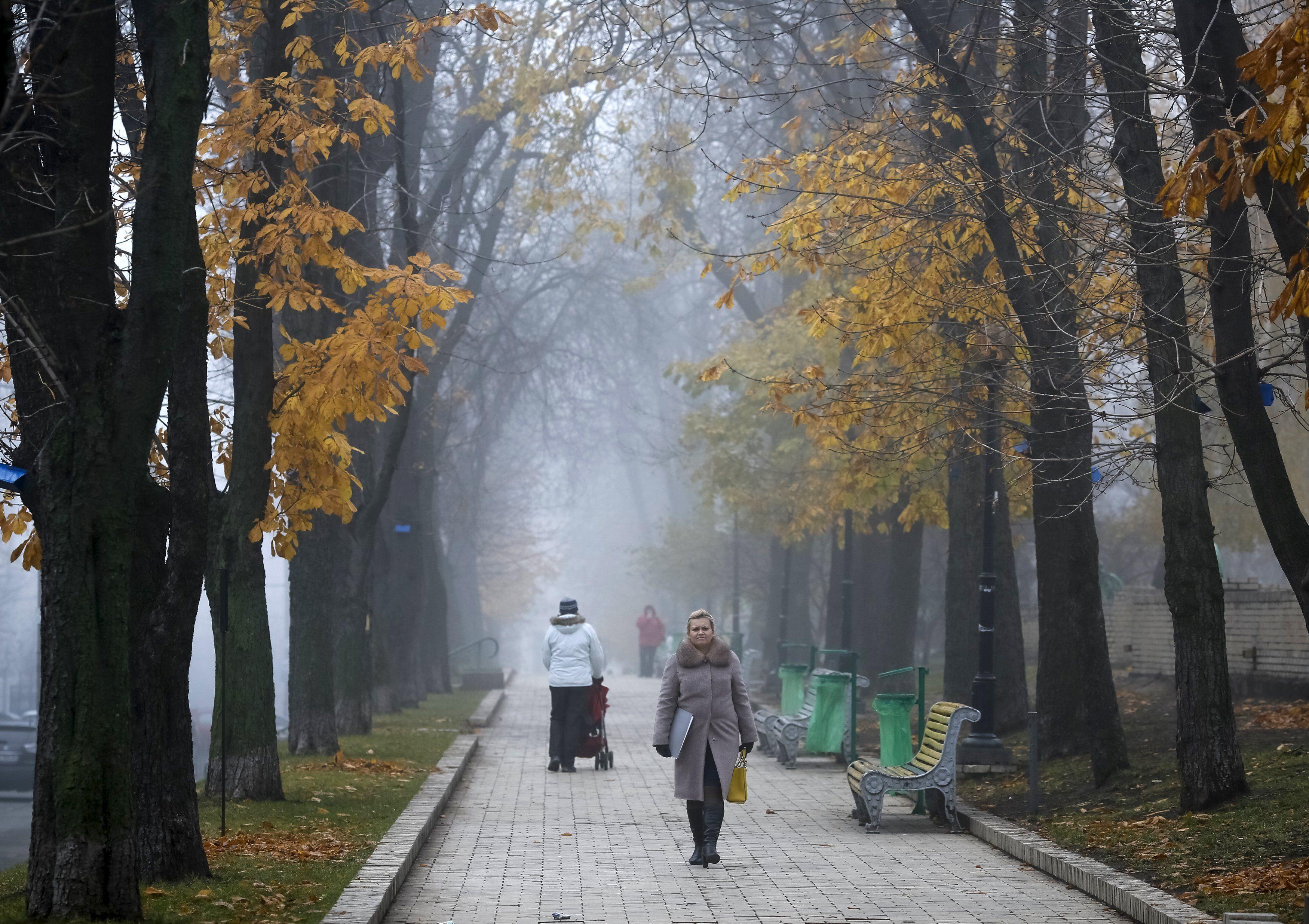 Осень в Киеве, иллюстрация