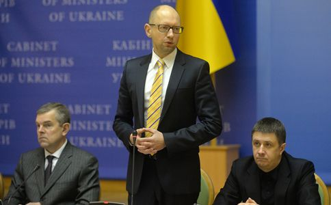 Арсений Яценюк на встрече с участниками Евромайдана