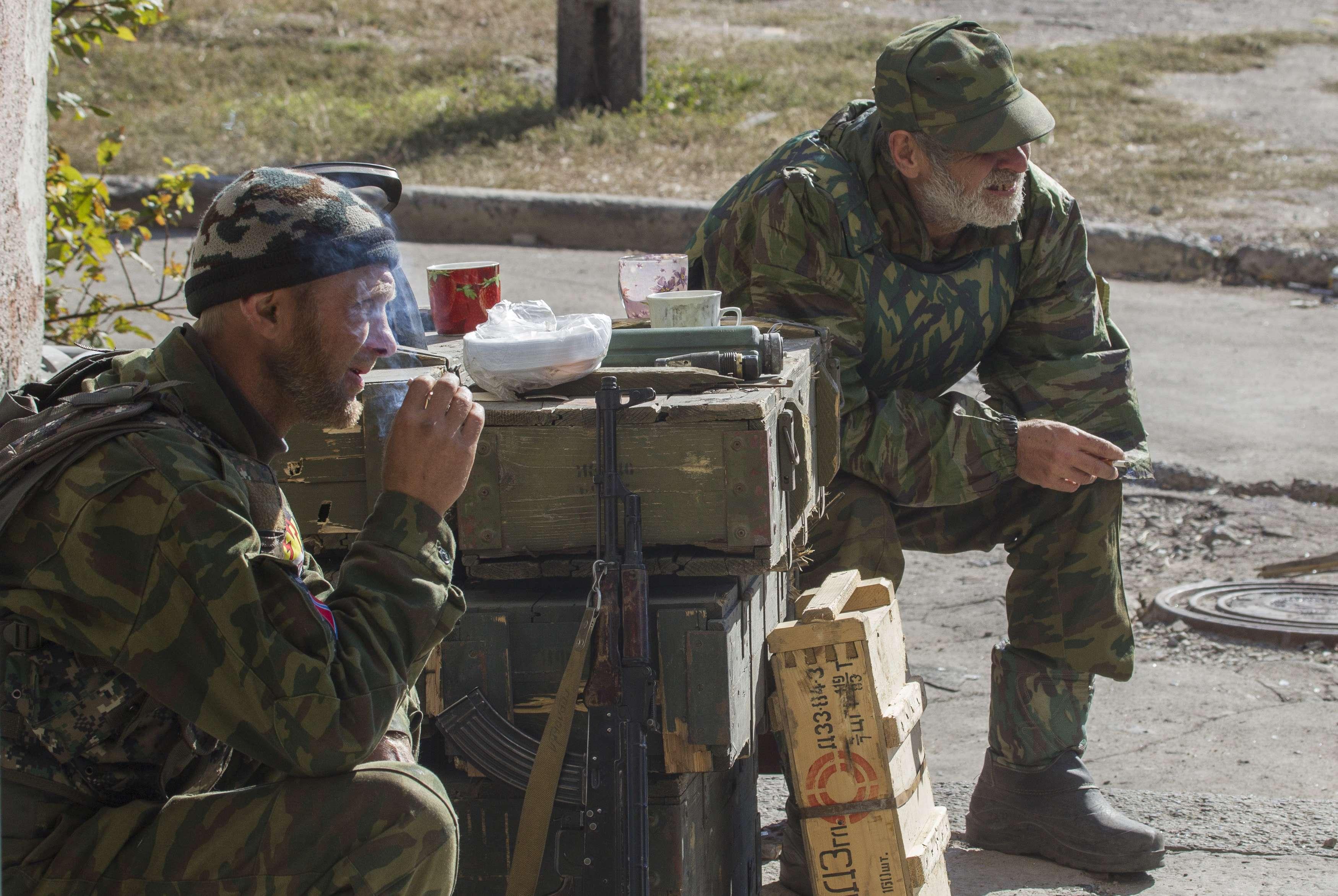 Блокпост боевиков, иллюстрация.