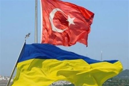 Флаги Украины и Турции, иллюстрация