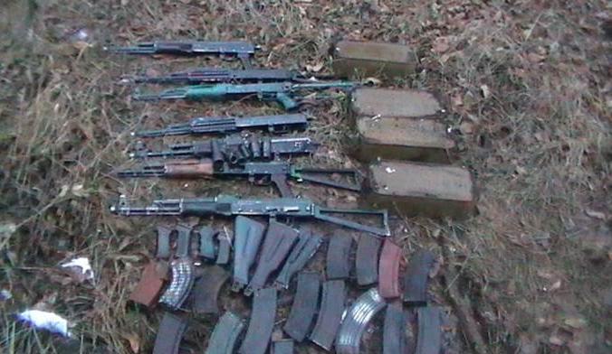 Найденные оружие и боеприпасы