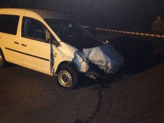 Разбитый Volkswagen Caddy