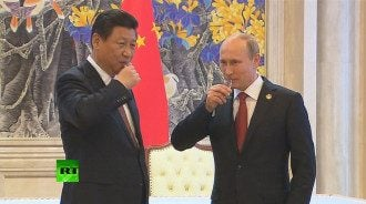 Путин, Цзиньпинь, рюмки