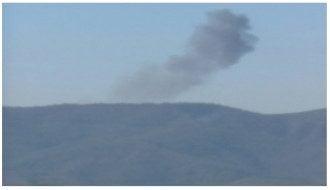 Последствия крушения военного самолета, иллюстрация