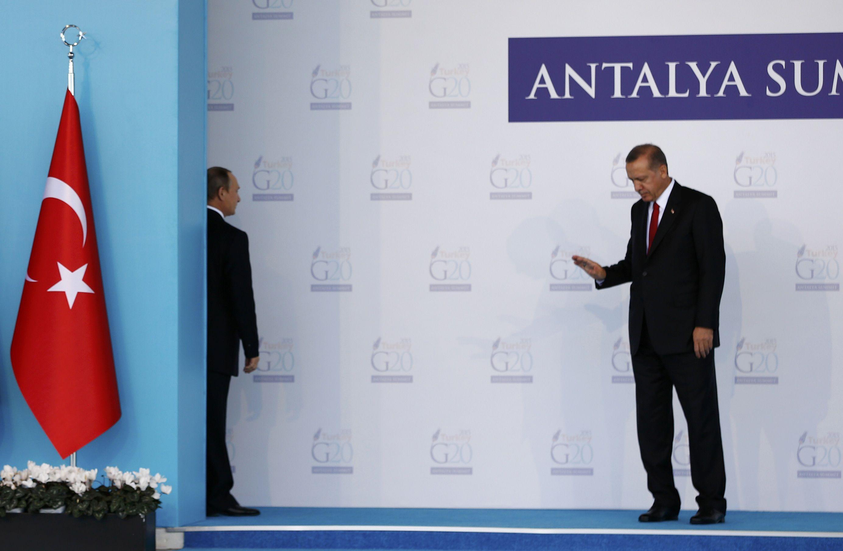 Путин и Эрдоган на саммите