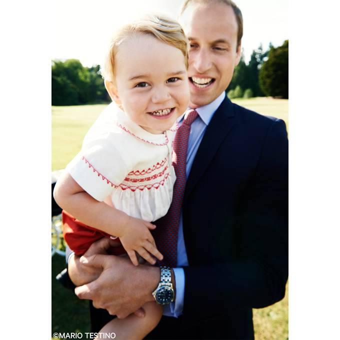 Принц Уильям с сыном Джорджем.
