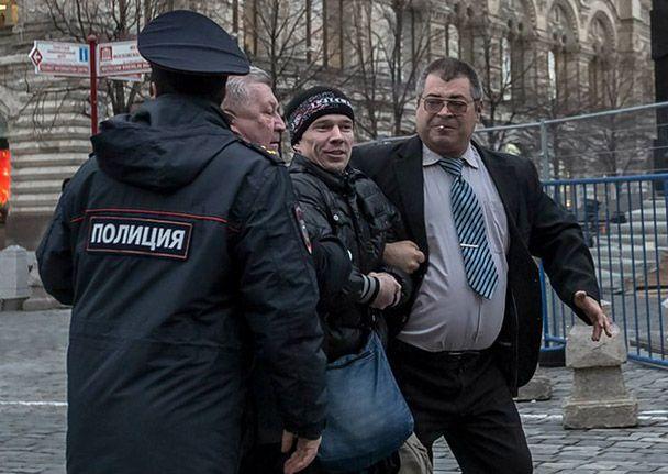 Задержание Дадина в Москве