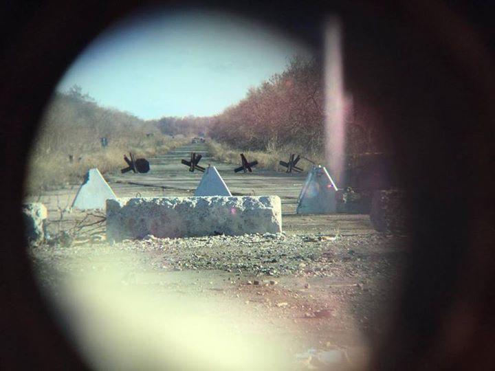 Вид на позиции боевиков