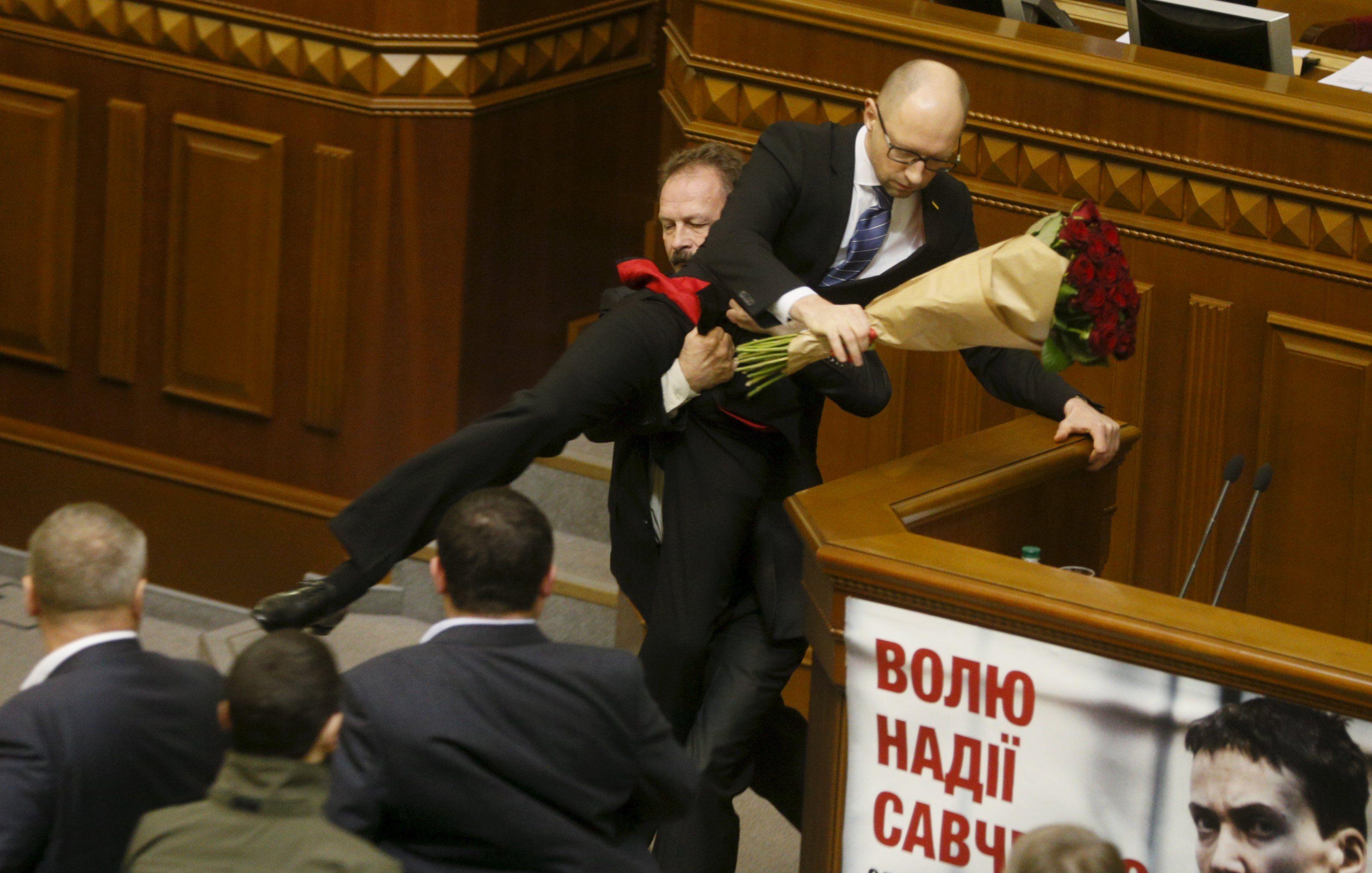 Олег Барна и Арсений Яценюк