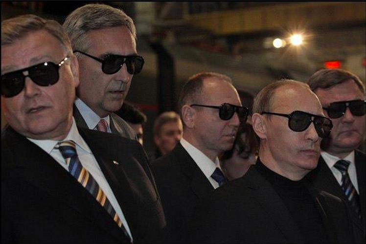 Путин, мафия, очки