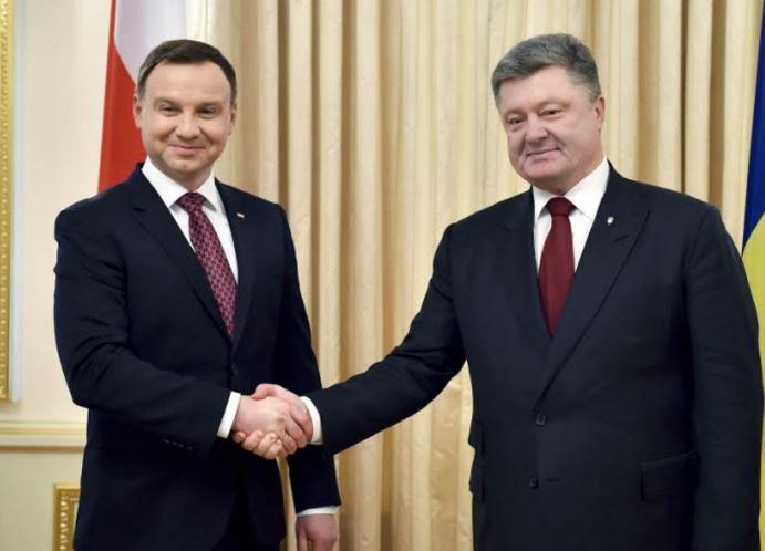 Петр Порошенко и Анджей Дуда
