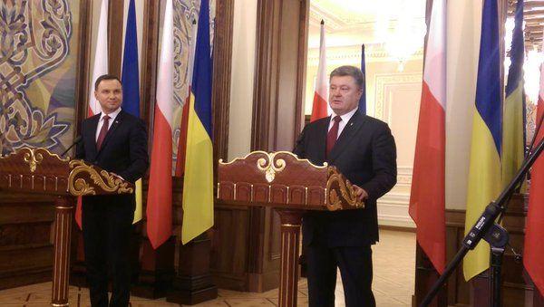 Петр Порошенко и Анджей Дуда.