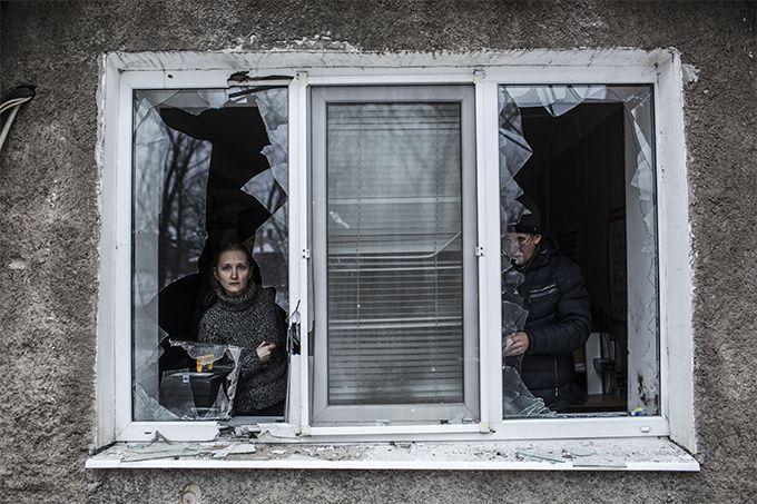 Разрушения в оккупированном Донецке