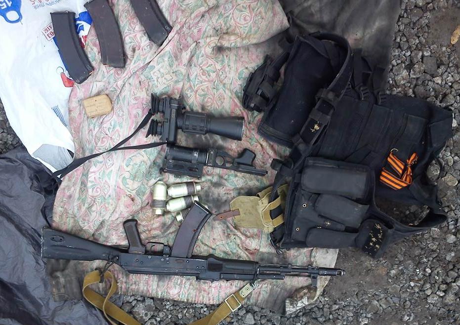 Найденные у злоумышленника оружие и боеприпасы