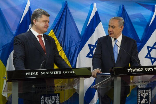 Петр Порошенко и Биньямин Нетаньяху