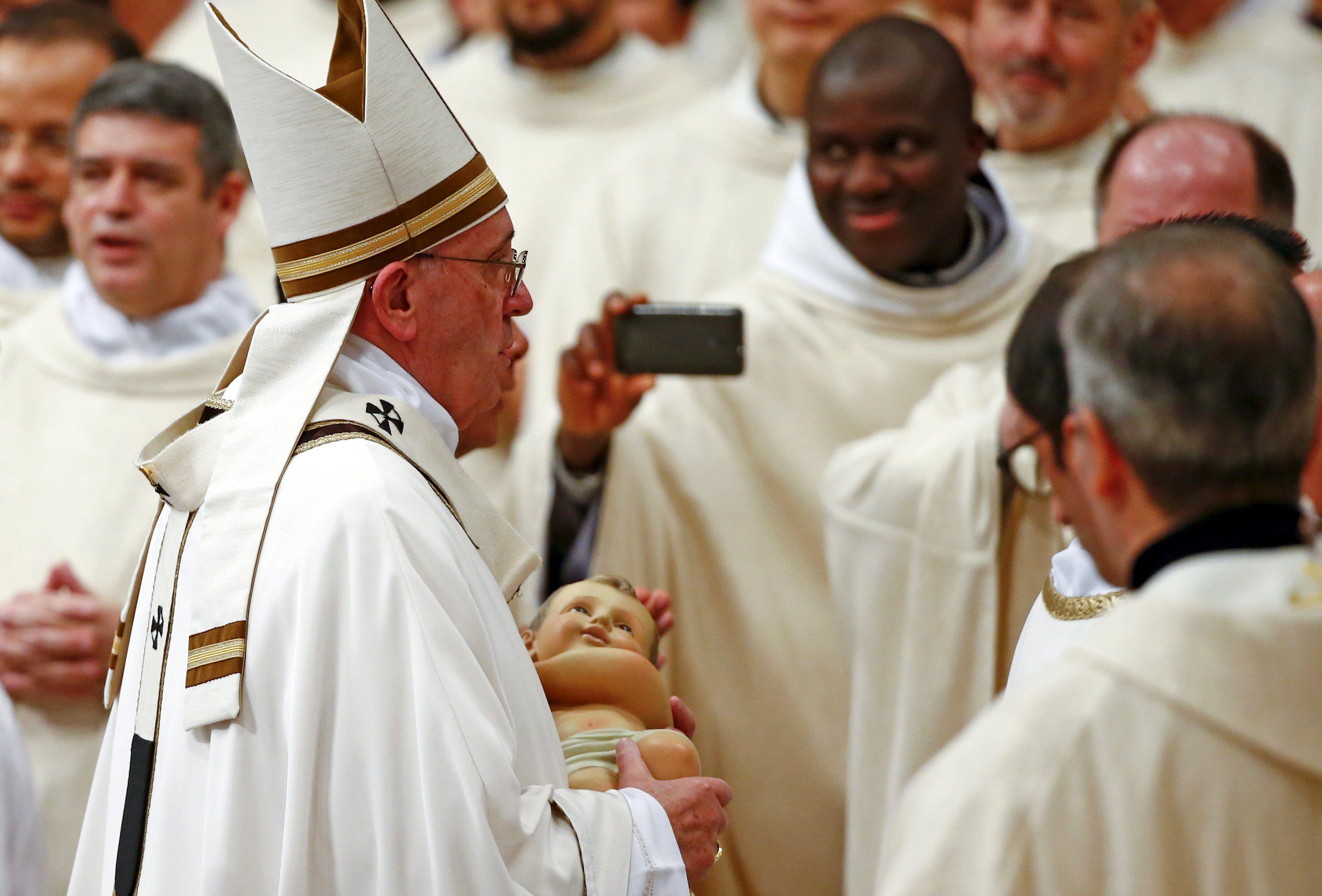 рождественские поздравления папы римского стеновые панели