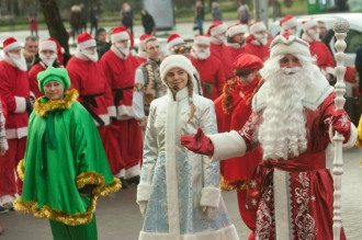 Новый год, Дед Мороз, Снегурочка 01