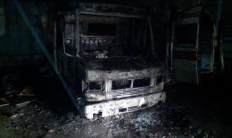 Сгорела машина скорой помощи