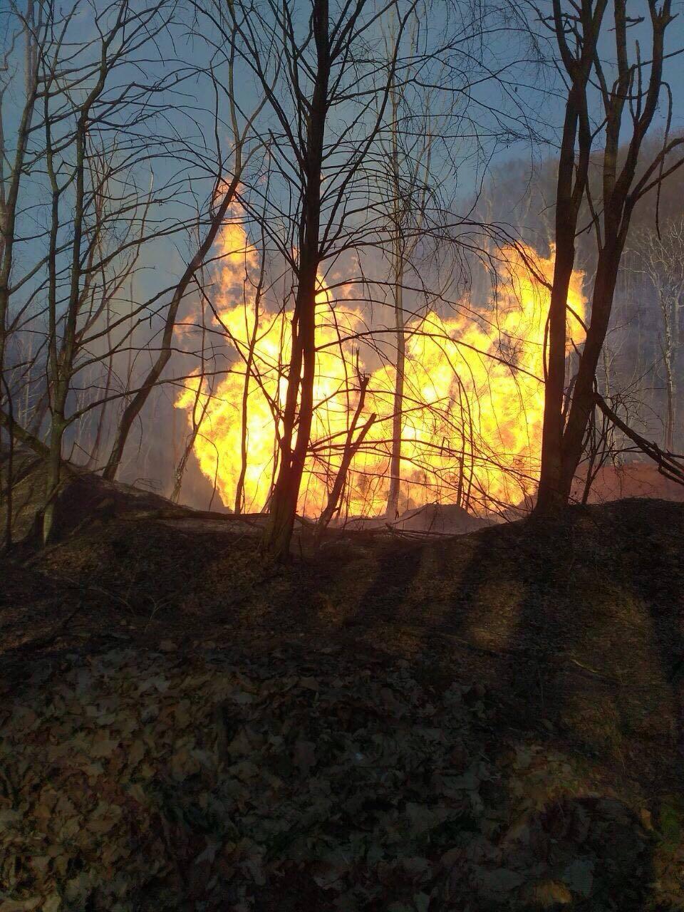 На Закарпатье взорвался газопровод
