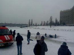 В Киеве под лед провалились и утонули двое мужчин