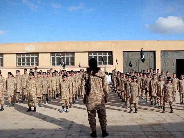 Лагерь по подготовке террористов в Сирии