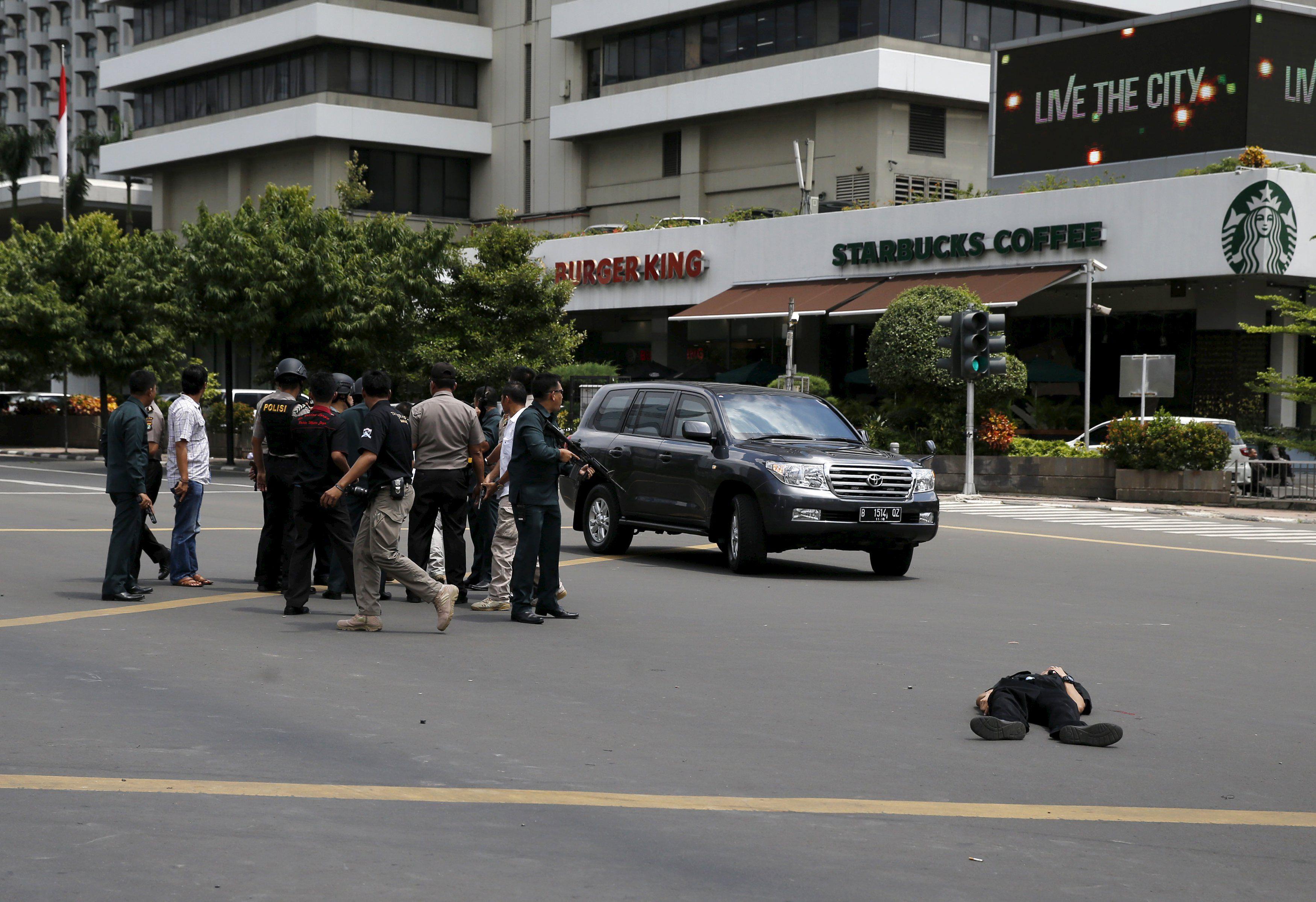 Последствия теракта в Джакарте, иллюстрация