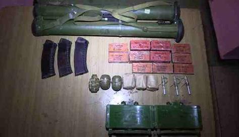 Найденное оружие и боеприпасы