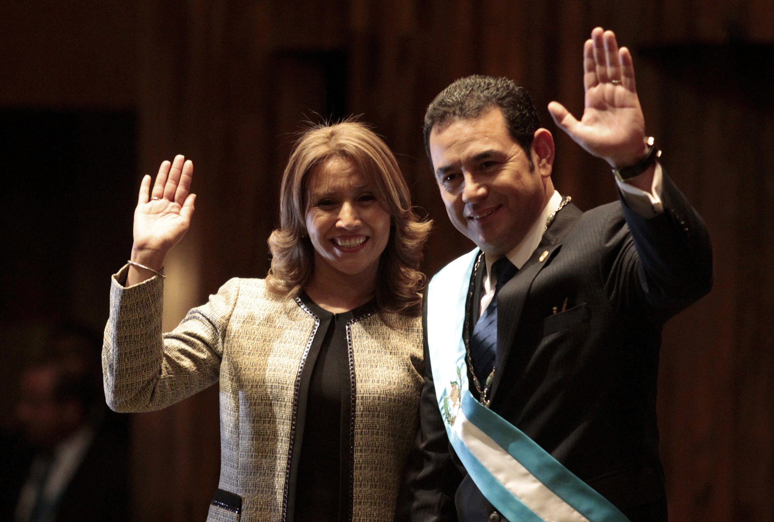 Моралес с женой Гилдой
