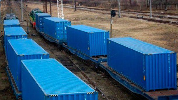 Первый контейнерный поезд из Украины в Китай.